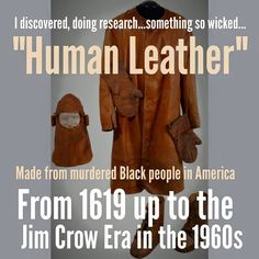 Image result for human leather from slaves