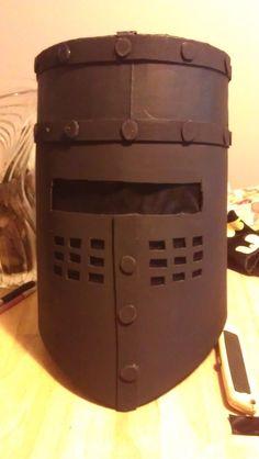 Black Knight Helmet Cardboard Monty Python costume