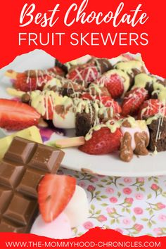 Best Chocolate Fruit Skewers for Valentine's day! Chocolate Fruit Skewers/ Fruit Skewers #FruitSkewers #ChocolateFruitSkewers #ChocolateValentinesRecipes #FruitChocolateRecipes #FruitSkewersRecipe #ChocolateFruitSkewersRecipe #ValentineDaySkewers #ValentineDayRecipes