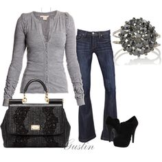 grey sweater!  gustinz.polyvore.com