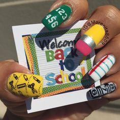 My Back to School Design   #nails #nailart #backtoschool