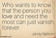 Quotes of Jandy Nelson About grief, good, heart, eyes, love, living, joy, world, spirit, talking, effort, shadow, sadness, dreams, change, s...