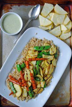 Grilled Summer Vegetables with Creamy Lemon Vinaigrette #vegan
