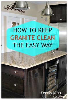 An outside-of-the-box solution you won't find under your kitchen sink from Fresh Idea Studio #diy #tips #granite