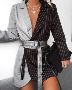 25 Stylish Winter Outfits: You Won't Get Cold Anymore! As you enter autumn and winter you need to update your wardrobe to lift summer clothes and add the Minimalist Outfit, Minimalist Fashion, Classy Outfits, Stylish Outfits, Girly Outfits, Look Fashion, Fashion Outfits, Fashion Design, Blazer Fashion