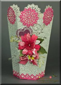Making flower vase with paper akbaeenw making mightylinksfo