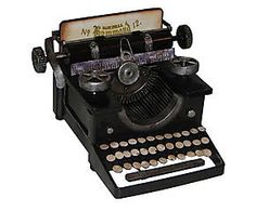 Máquina de escrever decorativa oldway
