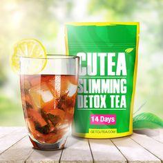 Enjoy iced CUTEA Detox Tea as you fight bloat and stubborn fat.