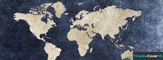 Vintage World Map Facebook Cover Timeline Banner For Fb Facebook Cover