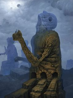 """The Monolith"" oil painting by Jeff Christensen"