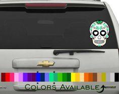 Day of the Dead Art Girl Sugar Skull Car Sticker. by CalacaJoy