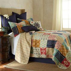 jasmine patch 5piece kingsize quilt set