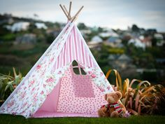 Gorgeous New Girly Girl Teepee-need this for all the nieces!