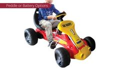 Groupon - Pedal-Powered ($ 99) or Battery-Powered ($119) Kids' Ride-On Go-Kart (Don't pay up to $299). Groupon deal price: $99