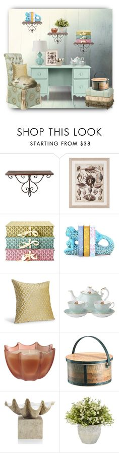 """""""Quiet Corner"""" by robinintherain ❤ liked on Polyvore featuring interior, interiors, interior design, home, home decor, interior decorating, WALL, Nina Campbell, Grayce and Galbraith & Paul"""