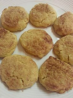 Keto dessert: Snickerdoodle cookies -- 1/2 c butter 1 c + 2 tbs almond flour 1/2 c granulated truvia 1 tsp vanilla extract 1/4 tsp baking soda 1/4 tsp cream of tartar 1/4 tsp baking powder 1 egg 1/2 tsp nutmeg Top: 1 tbs truvia + 1 tsp cinnamon Mix, cover and refrigerate 1 hour. Preheat oven to 350°. Make 10 walnut size balls and dip their tops in cinnamon mix. After you place them on the cookie sheet smush them down. Bake 10-12 minutes. Nutritional info for one cookie…