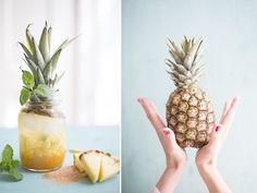 DIY-Anleitung: Ananas-Minz-Cooler selber machen / recipe for a cool summer drink with pineapple, party recipes via DaWanda.com