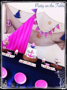 Nautical Girl Birthday Party Ideas | Photo 10 of 10 | Catch My Party