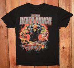 "Five Finger Death Punch ""Got Your Six"" Graphic Tee Shirt Men's Size Medium #GraphicTeeShirt #FiveFingerDeathPunch #Music"