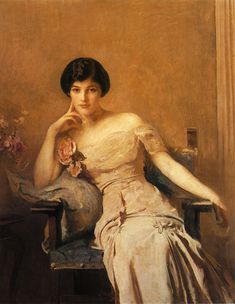 """Edmund Tarbell, """"Mrs Lawrence"""", 1912, painting"""