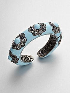 M.C.L by Matthew Campbell Laurenza - Multi-Colored Sapphire Accented Enamel Floral Bracelet
