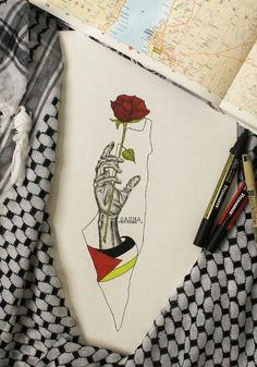 Palestine فلسطين My Palestine Flower وردتي فلسطين Palestine Art, Palestine History, Pencil Art Drawings, Easy Drawings, A Level Art Sketchbook, Abstract Face Art, Best Friend Drawings, Palestinian Embroidery, Arabic Art