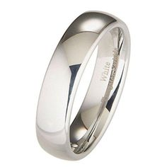 809b4afc30 2mm to 10mm White Tungsten Carbide Mirror Polished Classic Wedding Ring:  Jewelry