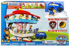 Paw Patrol Lookout Playset with 6 Pup Figures...