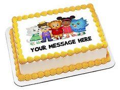 BB2153 Edible Icing Image Birthday 1 4 Sheet Cake Sticker Topper Daniel Tiger | eBay