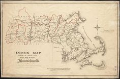 INDEX MAP SHOWING THE PRNCIPAL RIVER BASINS WITHIN THE STATE OF MASSACHUSETTS. By the Massachusetts. State Board of Health, 1876,
