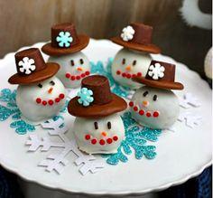 11 snowmen treats on Babble