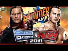 WWE Jeff Hardy vs Matt Hardy Summer Slam SvR 2011