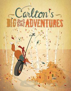Carlton's Big & Little Adventures by Livy Long, via Behance