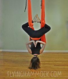 Orange Pizaaz Aerial Yoga Hammock For Aerial (Unnata) Yoga Swing or Antigravity Yoga, & Inversion Therapy