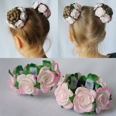 Baby Hairstyles Ideas – Baby and Toddler Clothing and Accesories Felt Flowers, Fabric Flowers, Ballerina Hair, Flower Hair Accessories, Hair Decorations, Diy Hair Bows, Diy Headband, Floral Hair, Barrette