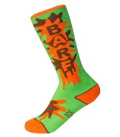 BARF !!! Kid's Barf Socks by Gumball Poodle #gumballpoodle #socks #crazysocks #funsocks #fun #kids #colorful #barf