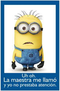 "Spanish Minion Poster, 11"" x 17"". Preterite and Imperfect"