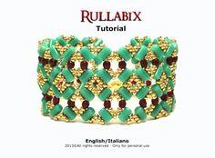 Tutorial Rullabix Bracelet  beading pattern by FucsiaStyle on Etsy
