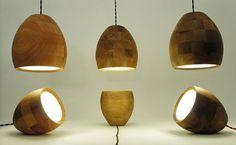 Spotty. Lámparas de madera, hechas a mano y con torno.