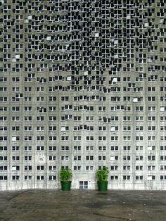 EVOL, Huge 'Buildings' Mural, Paris - unurth   street art