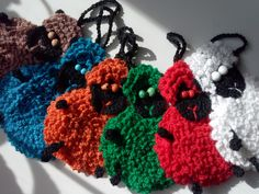 Black sheeps in colourful wools