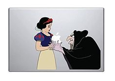 Snow White and Witch Wicked Holding Apple MacBook Decal