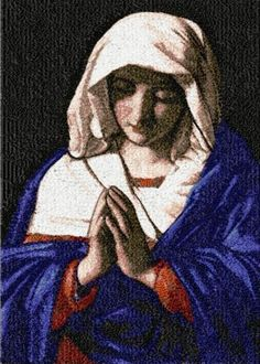 Advanced Embroidery Designs - Virgin in Prayer by Sassoferrato