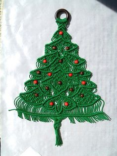 This is an example of macrame as a Christmas tree which could be used for a Christmas decoration. It showed my how versatile macrame can be, and I thought that this was a very creative way to use macrame. This is a really cool way to use macrame and I wish that I could make something like this.
