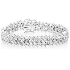 $199.99 - 2 Carat Diamond Sterling Silver Tennis Bracelet