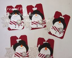 Just Sponge It: Snowman Tags