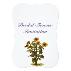 bridal shower invitations sunflowers cheap inexpensive bridal shower party card