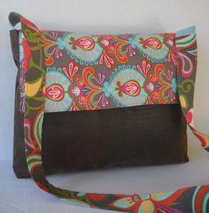 Messenger Bag / Crossbody Bag / Travel Bag Multi by jazzygeminis, $30.00