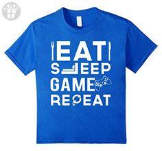 Kids Eat Sleep Game Repeat T-Shirt 4 Royal Blue (*Amazon Partner-Link)
