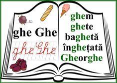 grupurile de litere - grupul GHE Classroom Decor, Grammar, Coloring Pages, Activities For Kids, Homeschool, Teaching, Education, Houses, Christians